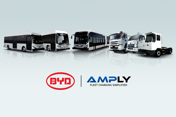 BYD and AMPLY Launch Preferred Partnership For Electric Vehicle Charging