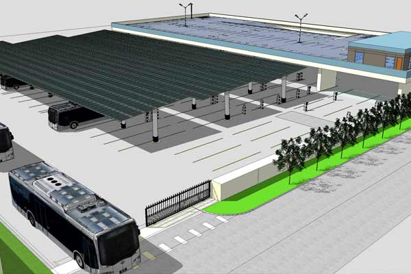 Anaheim Transportation Network Breaks Ground on a 46 All Battery Electric + Solar Charging Facility