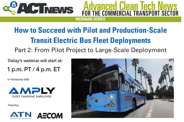 Webinar – From Pilot Project to Large-Scale all Battery-Electric Transit Fleet Deployment​